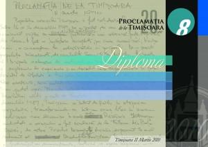 diploma proclamatia de la timisoara 2010