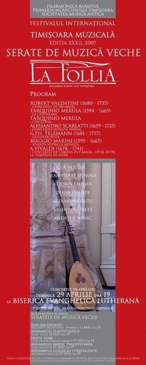 afis concert la follia baroque ensemble, 2007