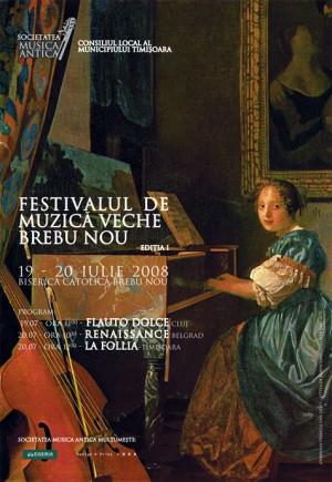 afis, festivalul de muzica veche, brebu nou, 2008