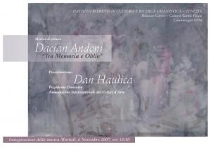 afis, tra memoria e oblio, dacian andoni, 2007