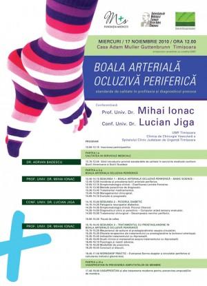 afis medical boala arteriala periferica, mihai ionac, lucian jiga, 2010