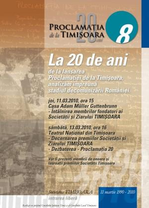 afis, proclamatia de la timisoara, la 20 de ani, 2009