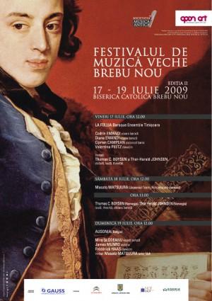 afis, festivalul de muzica veche brebu nou, 2009