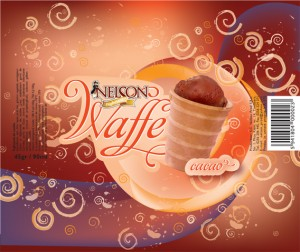 ambalaj inghetata nelson waffe cacao