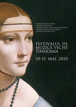 brosura program, festivalul de muzica veche timisoara, 2010