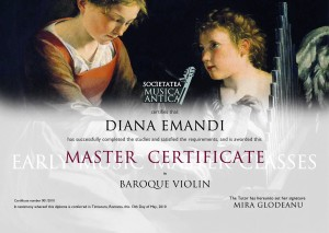 certificat early music festival masterclass 2010