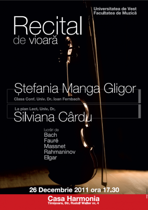 beneficiar - Alexandra Razvan tema - poster concert perioada - martie  2012