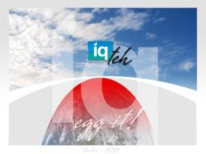Felicitare de Paste pentru platforma IQ Teh - pentru e-mail